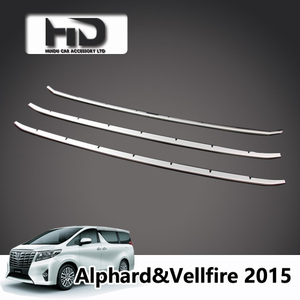Front grille insert grille trim for Vellfire Alphard 2015,Alphard whole car  accessories
