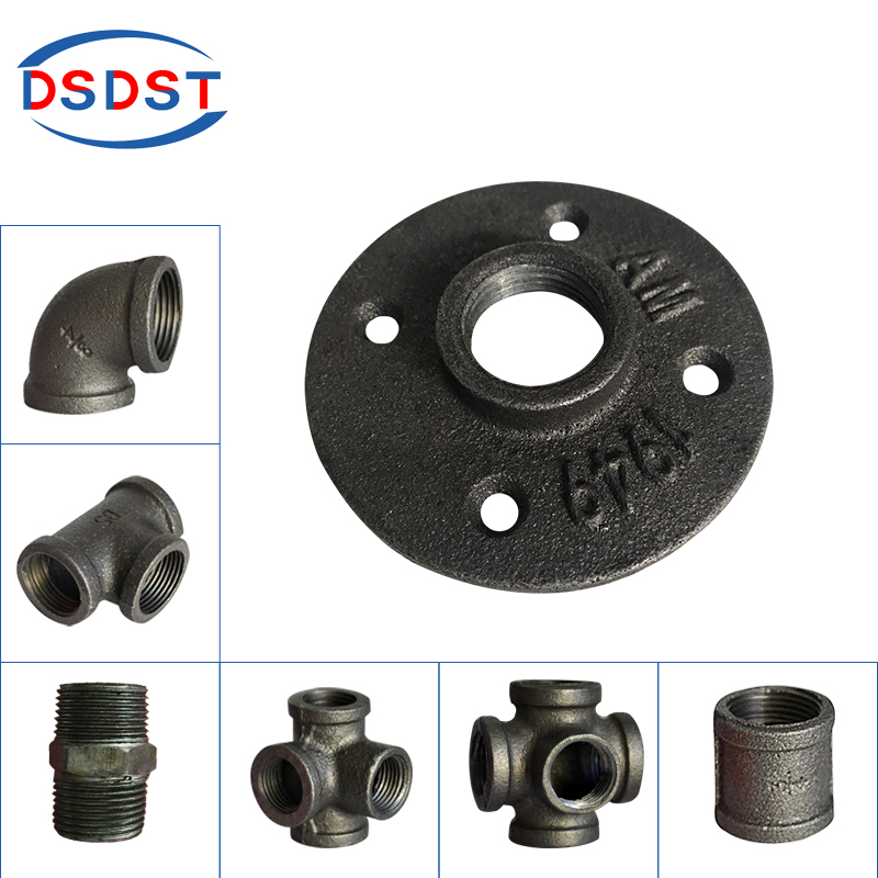 Home Improvement 1/2 Malleable Thread Floor Flange Iron Pipe Fittings Wall Mount Industrial Threaded Flang Less Expensive Hardware