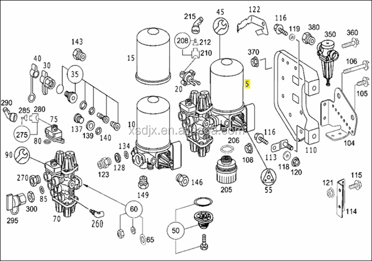 spare parts for mercedes benz actros 1840 truck air dryer. Black Bedroom Furniture Sets. Home Design Ideas