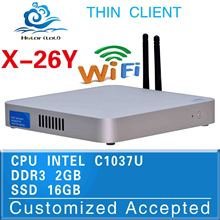 without fan ,X-26ywireless thin client, C1037U office computer ,support wrieless keyboard, speakers and cash drawer