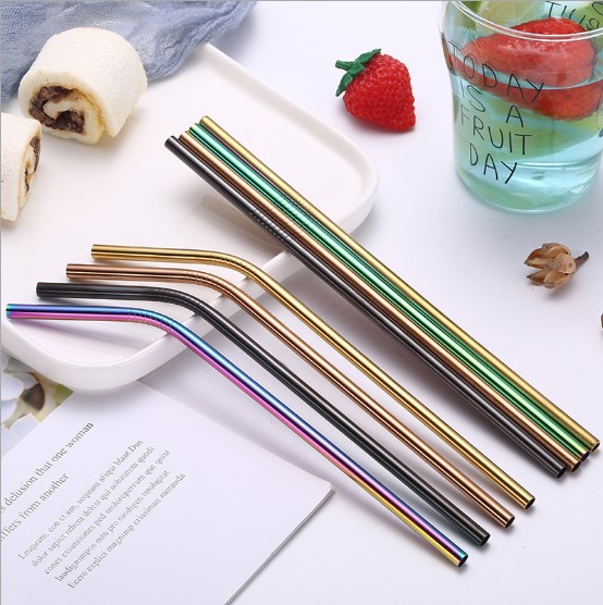 Stainless steel straws different size