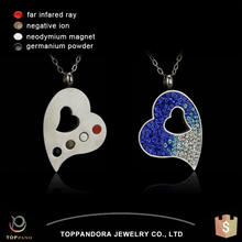 Stainless steel jewelry gift fashion design broken heart pendant quantum science pendant side effects