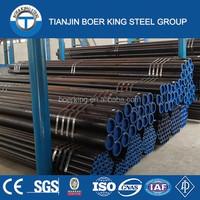 surplus astm a53 black steel black round mild steel pipe for high temperature