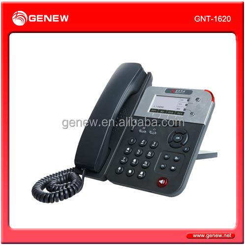 Genew Enterprise-class IP phone(VIOP Phone) GNT-1620 with LCD and HD voice Home Office and ISP applications.