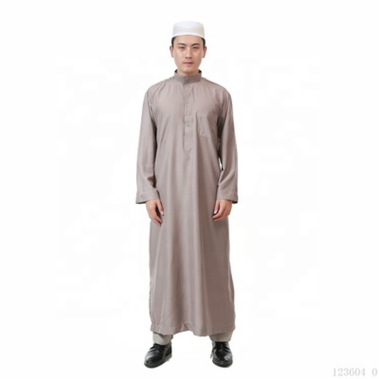 Muslim men's clothing hooded stoned abaya with hood ajman indonesia dubai