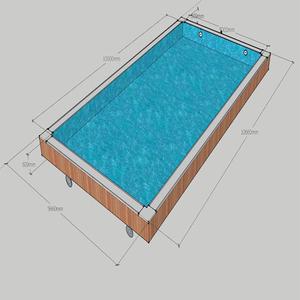 prefabricated swimming pool slides fiberglass plastic liner stainless steel  frame pools