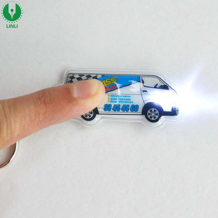 Shenzhen Factory Custom Keychain, Fashion Car PVC Keychain, Cheap Led Light Keyring