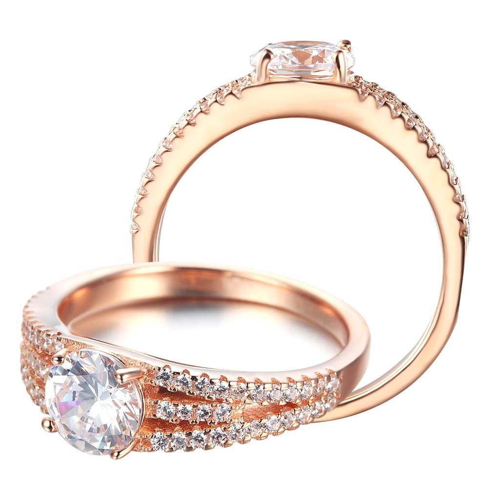 7aa2ffac4c71a Em estoque em ouro branco mais recente de ouro projetos do anel de casamento  de cobre