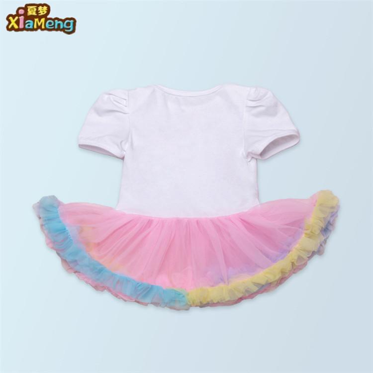 58ed9cd185d54 ملابس الطفل طويلة الأكمام عيد 1 عاما ، الطفل السروال القصير القطن الرضع  الفتيات ، طفلة