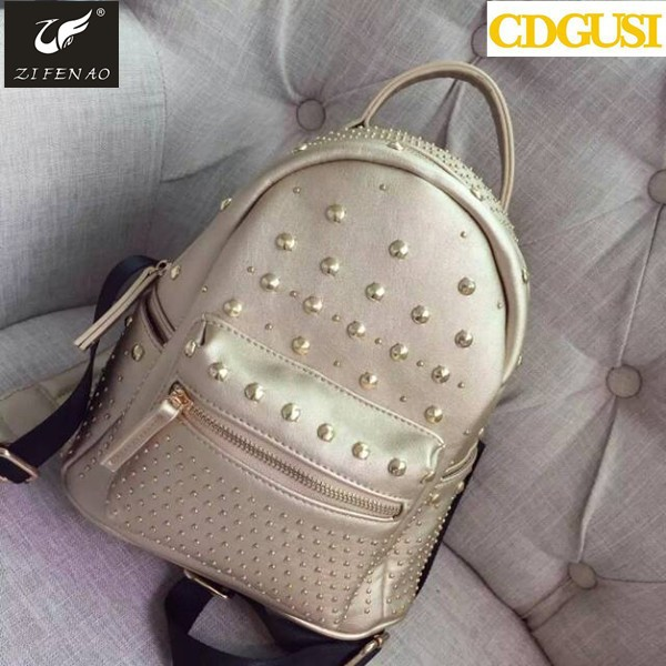 New 2017 Women PU Leather backpack Special Offer Women's rivets backpacks schoolbags for girls