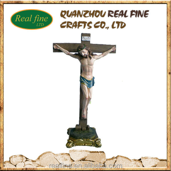 Hot products resin standing crucifix craft