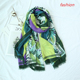 Natural colors printed scarf hijab fashion girl Arab style shawl wholesale printed hijabs with tassels