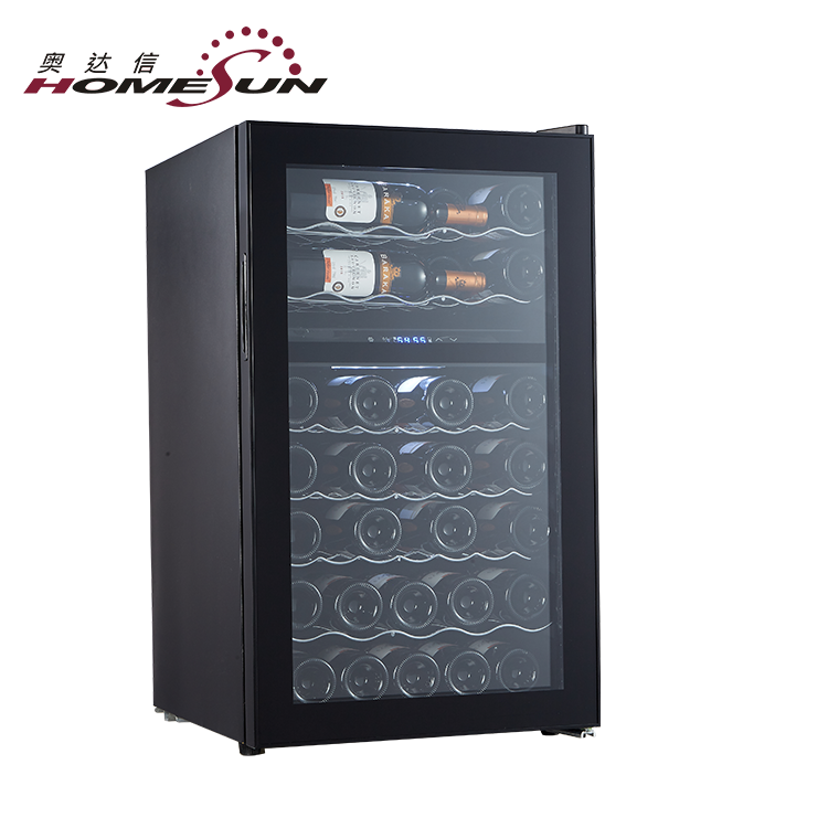 Custom Dual-Zone 38 Bottles Peltier Cooler Wine Cellar, Wine Dispenser Adjustable Wine Cooler, Wine Cellar Cooler System