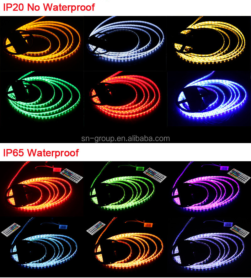 Hot sale DC12V 14.4w 60 led/mSMD 5050 RGBW led flexible strip with waterproof or non-waterpoof