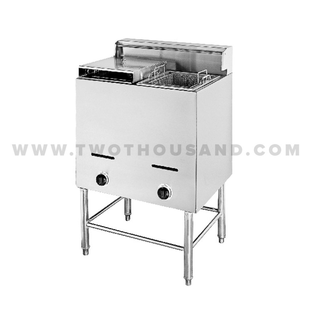 TT-WE13B 2 Tank 2 Baskets Commercial Gas Large Deep Fryer Machine