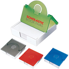 Nieuwigheid persoonlijke mode dagelijks gebruik bureau compacte doos plastic vierkante transparante gevouwen kaart clip cover memo papier houder