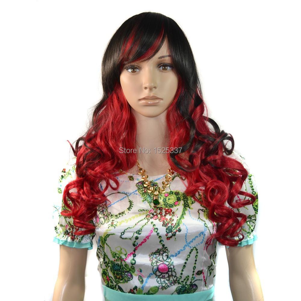 Buy Still Streaked Black Hair Color Hair Piece Wig Piece Colorful