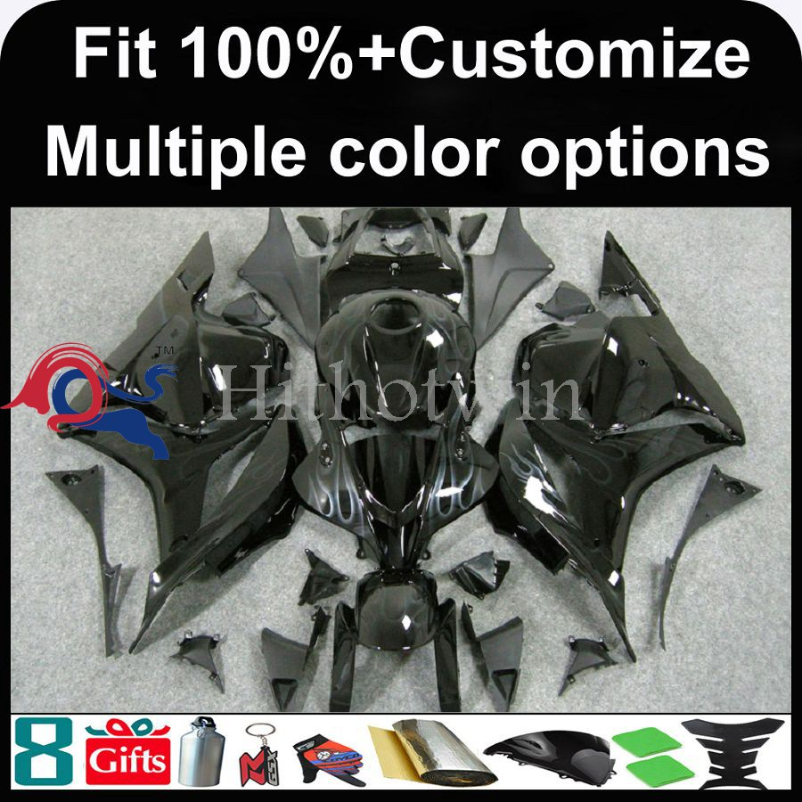 INJECTION MOLDING panels Fairings black CBR600 RR 2009 2010 2011 ABS Bodywork Set Fairing Gloss Black Fit CBR 600 CBR600RR 200