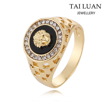 Latest Designs Lion Diamond Men S Wedding Ring Gold Ring Wholesale