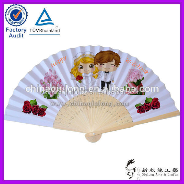 Wedding Decoration Bamboo Fan , Personalizd Wedding Invitation, Special Bamboo Wedding Gifts
