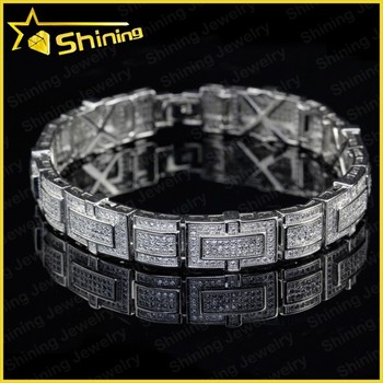 55589d426a79 hot sell hip hop bling bling lab created diamond hip hop jewelry bracelets