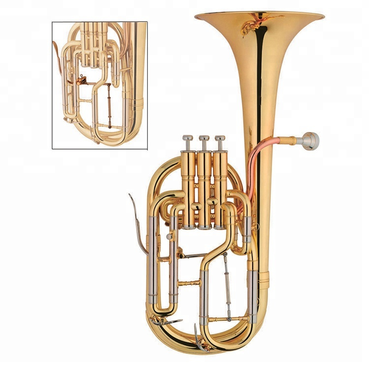 Professionelles Althorn-Eb-Schlüssel Goldlack-Messing-Musikinstrument