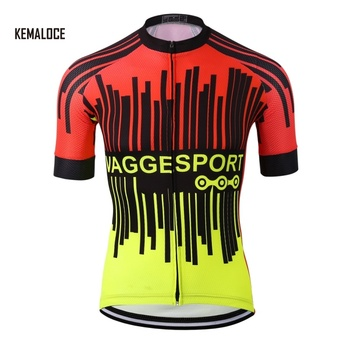 KEMALOCE mens fashion bright red cycling jerseys top polyester sports bike  racing suits wear e6fe25986