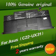 Free shipping C22-UX31 C23-UX31 Original laptop Battery For Asus Ultrabook ZENBOOK UX31 UX31A UX31E 7.4V 6840MAH 50WH