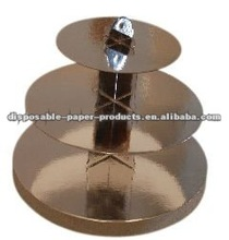 cardboard cupcake stands yiwu factory Cupcake Holder Silver 3 tier cupcake holder for your celebration cakes, treats