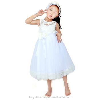 Großes Mädchen Kleid Design Prinzessin Weißer Gaze Kinder Kleid Foto ...