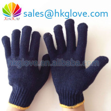60g Navy Blue Cotton Knitted Hand Gloves Popular in Indian Market HK6045