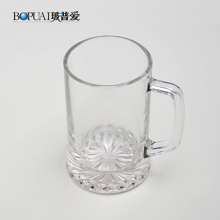 Bulk custom 400ml glass beer stein mug tankard