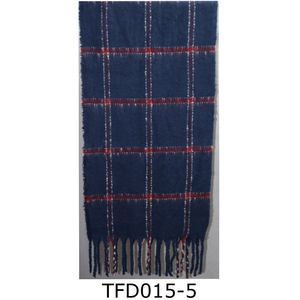 knitting tartan long acrylic scarf shawl