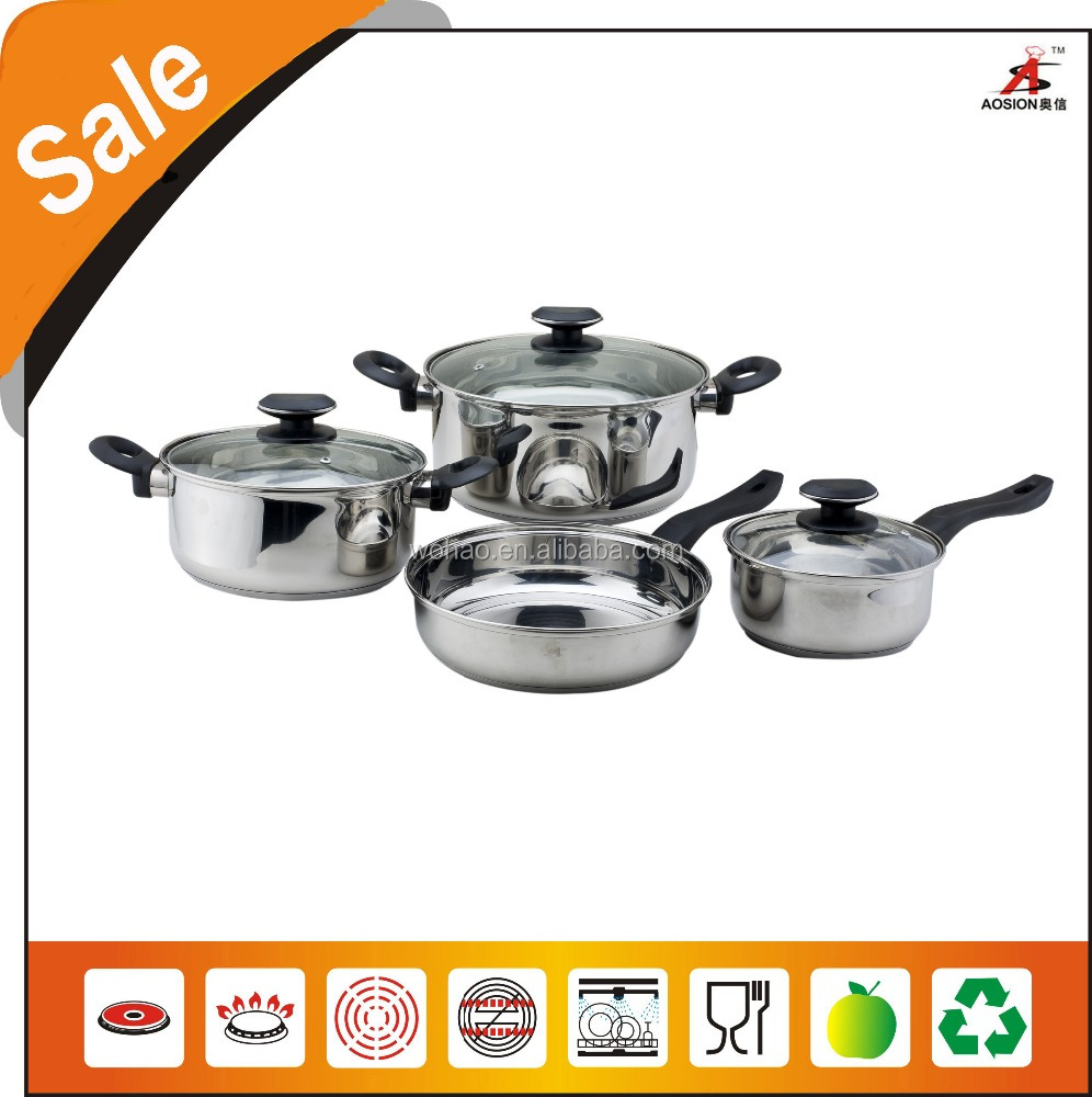 with handles and knobs stainless steel enameled cookware