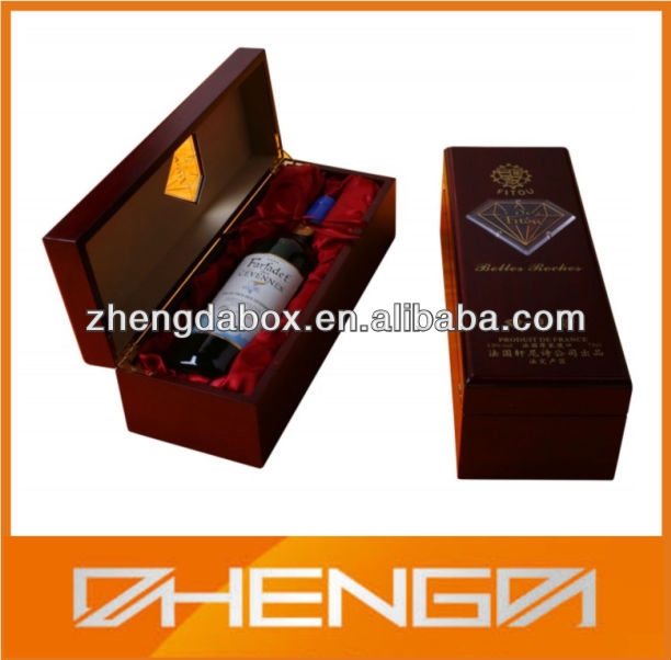 HOTSALE Customized Made-in-China Woden Red Wine Box(ZDW13-H629)