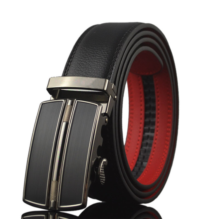 Fashion Men Genuine Automatic Buckle Custom Logo Leather Belt