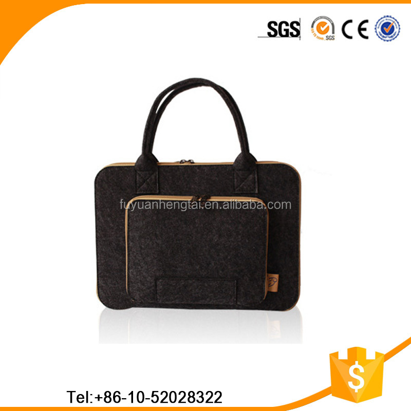 Alibaba China Supplier Custom felt Wool laptop tote laptop pc bag