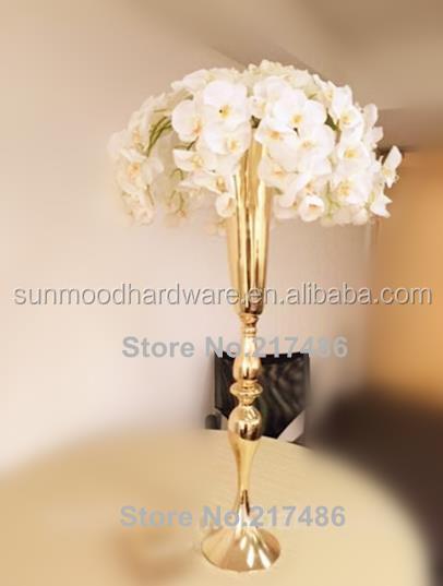 ventas calientes de oro mental jarrones jarrones de decoracin del hogar de la flor mental