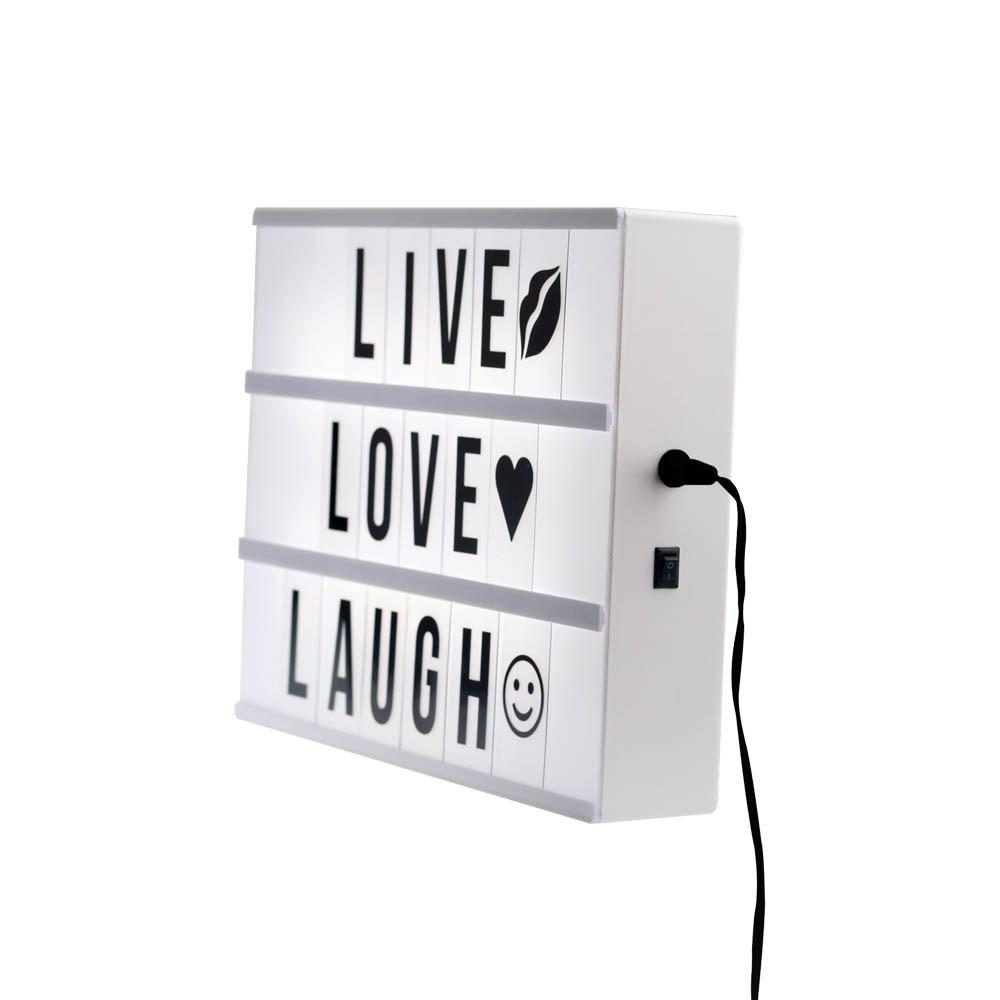 lightbox a4 met letters cinema lichtbak a4 diy led a4. Black Bedroom Furniture Sets. Home Design Ideas