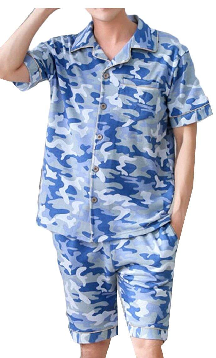 9291326bbd Get Quotations · omniscient Mens Silk Satin Short Pajamas Set Sleepwear  Loungewears