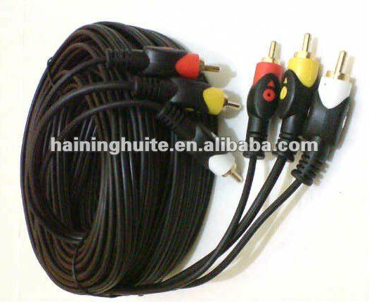 3 PIN RCA Cable Stereo Audio Cable 10m