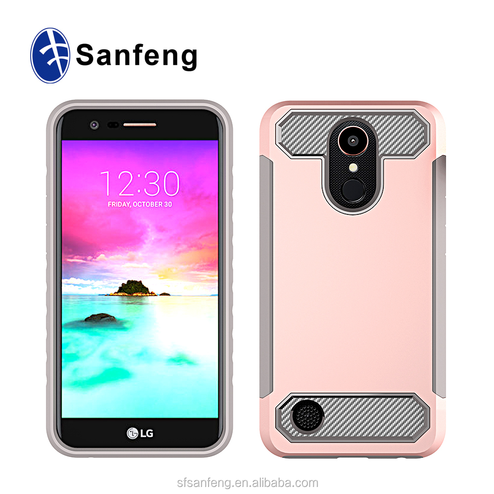 UV Printing PC Case For LG K20 Plus with Carbon Fiber Case For LG K10 2017 T-mobile MetroPcs Smart Phone Case