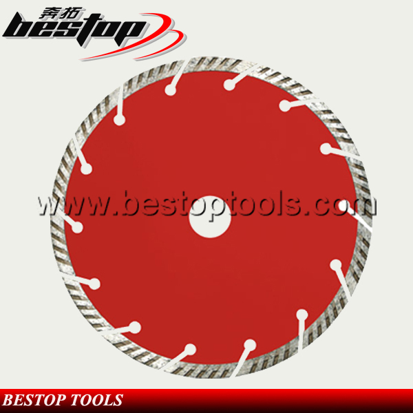 Bestop Hot Sale Skewed Teeth Dry Turbo blade for Grantie and Marble Cutting