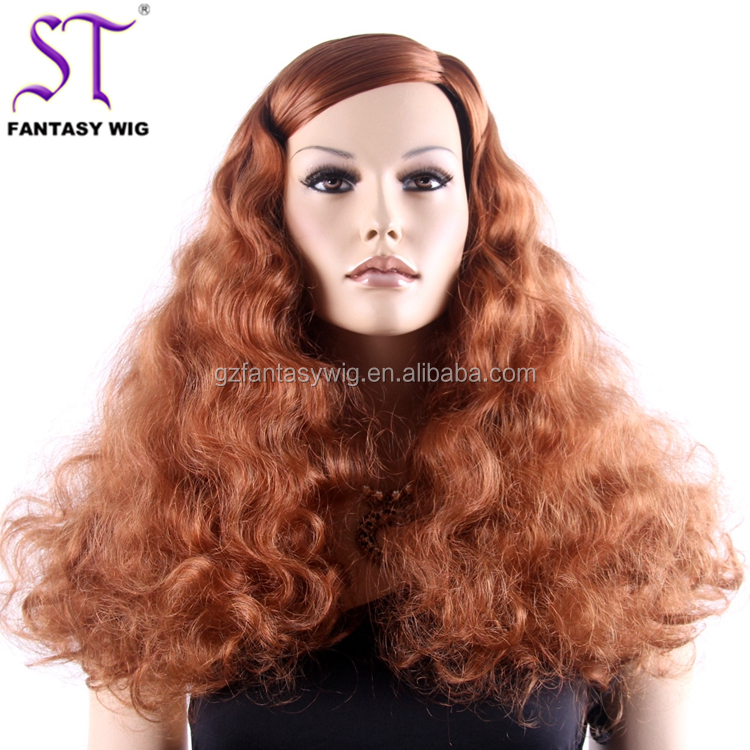 "Afro wave 24""red celebrity afro synthetic fiber Italian fashion show high quality Famous brand shop window season mannequin wig"