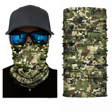 Promotional Polyester Camo Custom Multi-purpose Seamless Tubular Fishing Face Mask Bandana