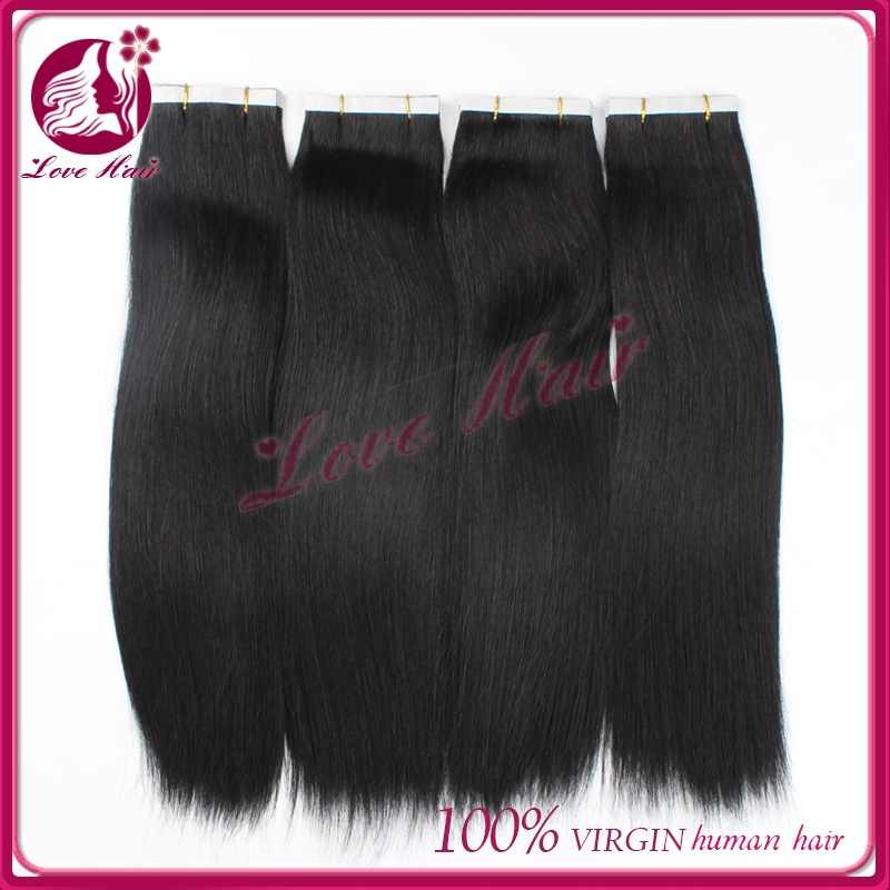 Unprocessed malaysian virgin 26 inches tape human hair extensions,tape hair extension