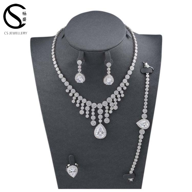 2017 Trending Products Silver Jewerly Set Bridal Jewelry Set