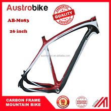 Carbon fiber mountain bike frame, mtb frame, 26er multi color options wholesales price with customized decal