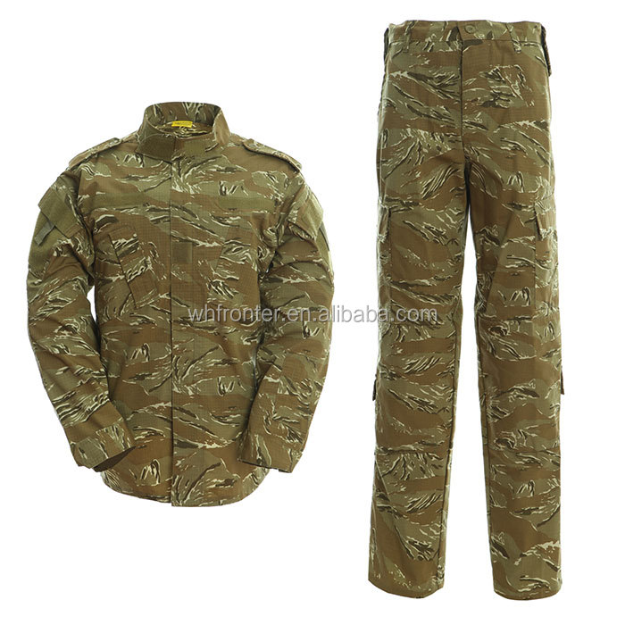 Professional maker army combat tiger stripe camouflage uniform set