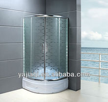 bathroom high base tray acid tempered glass mat special different patterns pictures design Cabine de dus